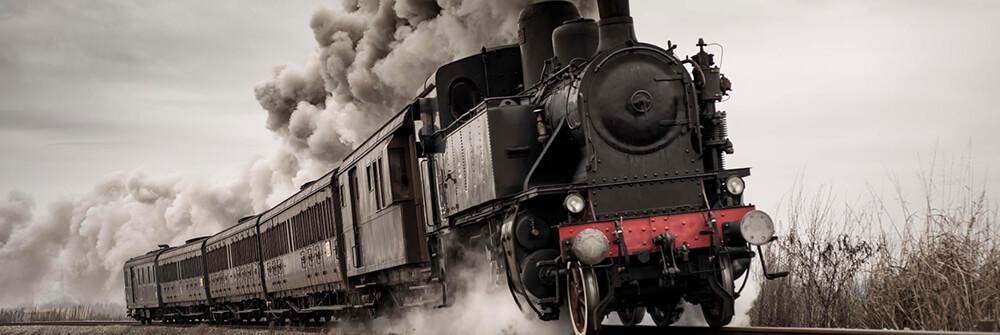 Photo wallpaper trains