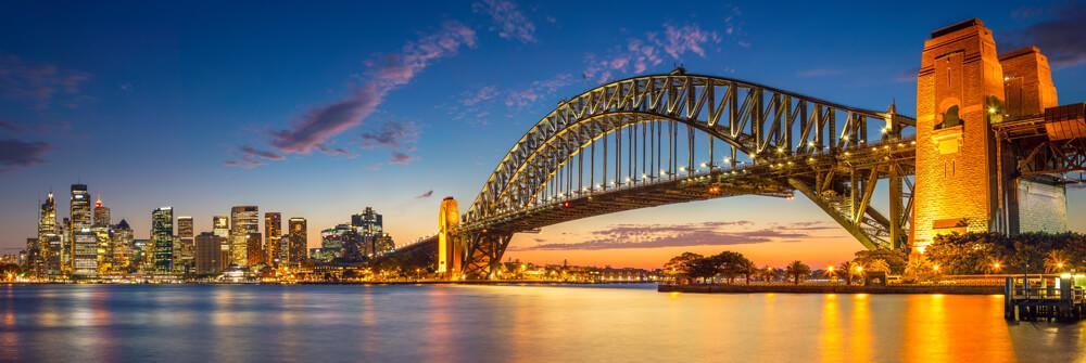 Photo wallpaper with bridges