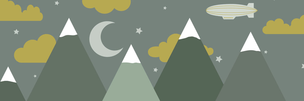 Kids Wallpaper with Mountains