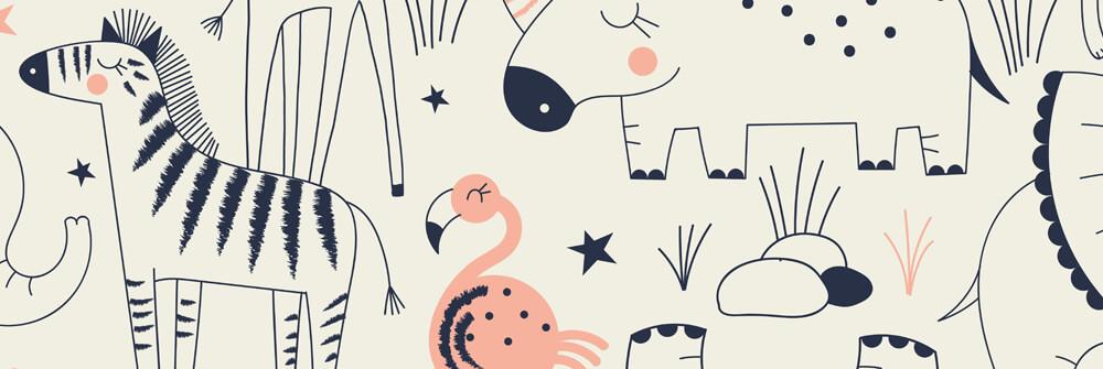 Sports patterns on wallpaper