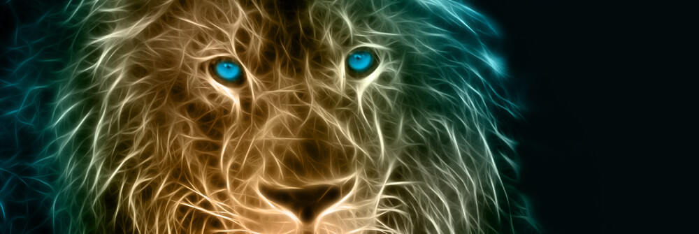 Wallpaper with tigers and lions