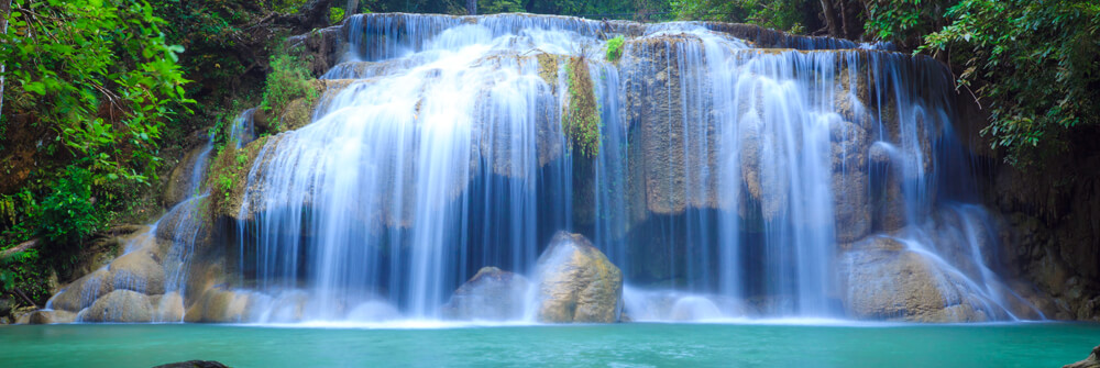 Photo Wallpaper with a waterfall