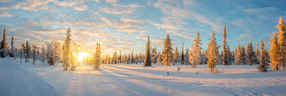Winter landscape photo wallpaper