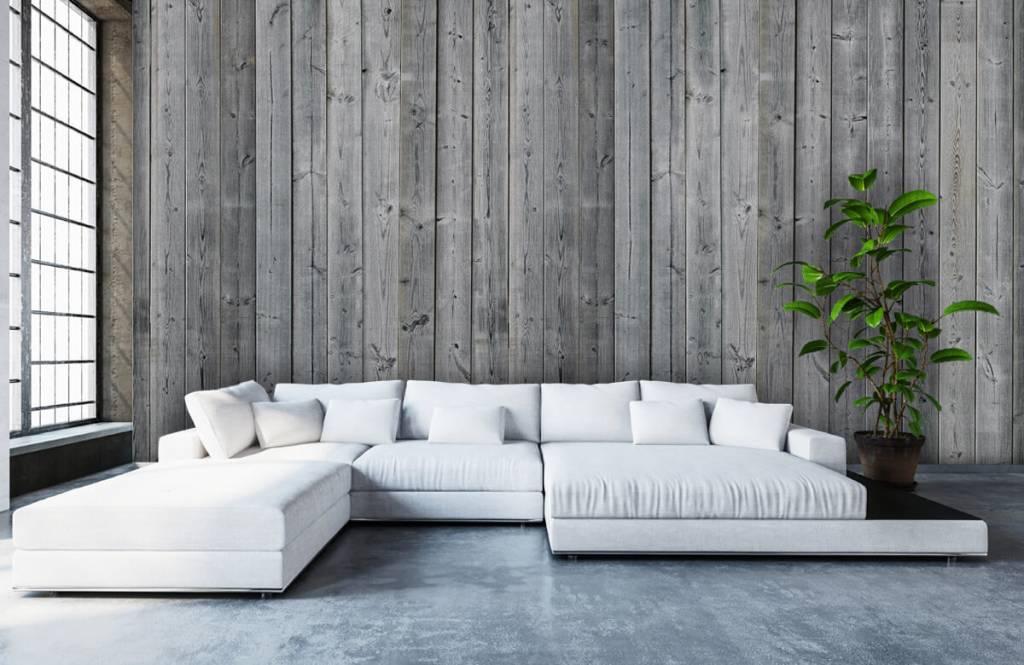 Wooden wallpaper - Wooden planks in 3D - Bedroom 1