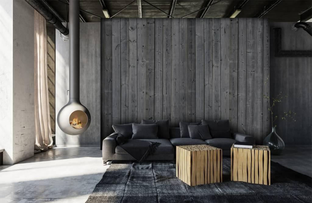 Wooden wallpaper - Wooden planks in 3D - Bedroom 2