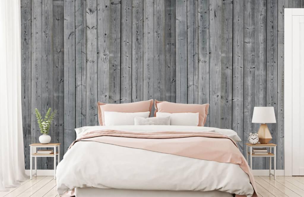 Wooden wallpaper - Wooden planks in 3D - Bedroom 3