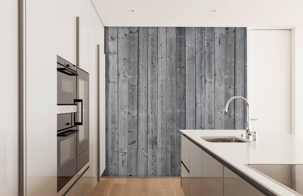 Wooden wallpaper - Wooden planks in 3D - Bedroom 5