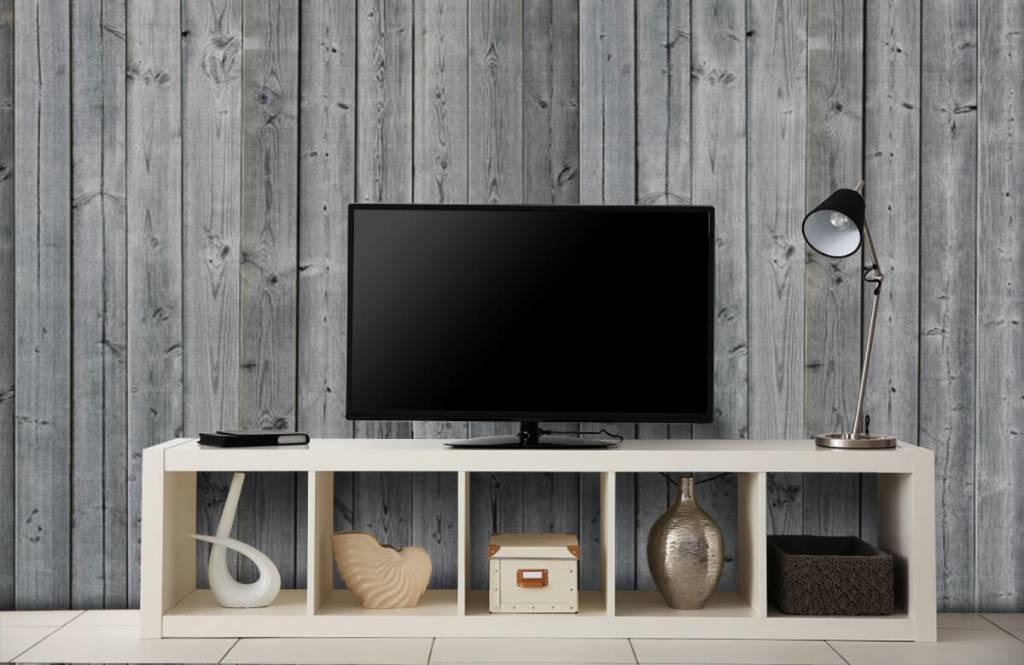 Wooden wallpaper - Wooden planks in 3D - Bedroom 6
