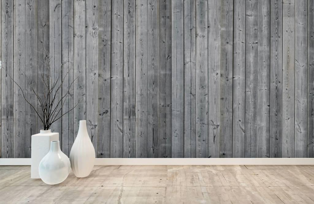 Wooden wallpaper - Wooden planks in 3D - Bedroom 8