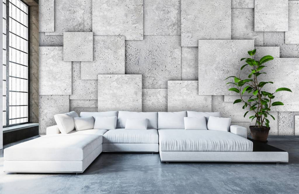 Other Textures & Surfaces - Square tiles in 3D - Bedroom 1