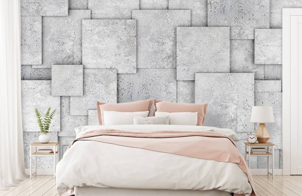 Other Textures & Surfaces - Square tiles in 3D - Bedroom 2