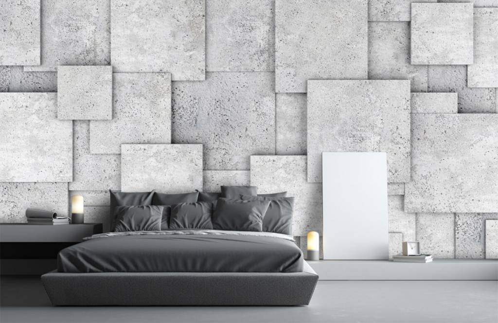 Other Textures & Surfaces - Square tiles in 3D - Bedroom 3