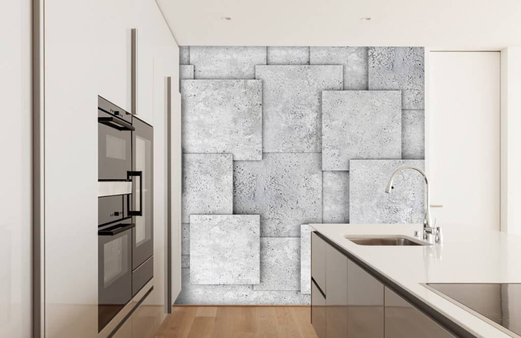 Other Textures & Surfaces - Square tiles in 3D - Bedroom 4