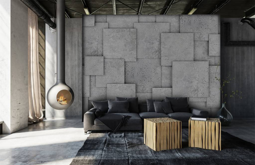 Other Textures & Surfaces - Square tiles in 3D - Bedroom 6