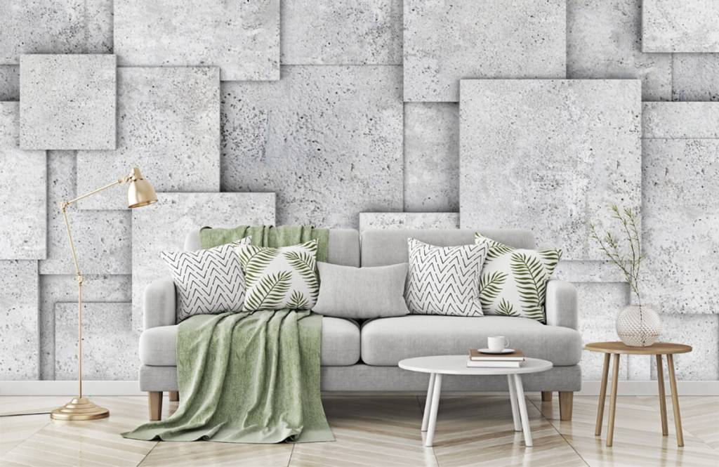 Other Textures & Surfaces - Square tiles in 3D - Bedroom 7