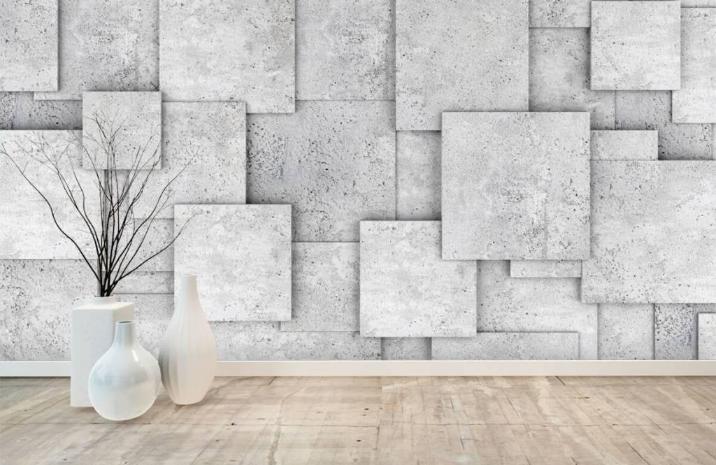 Other Textures & Surfaces - Square tiles in 3D - Bedroom 8