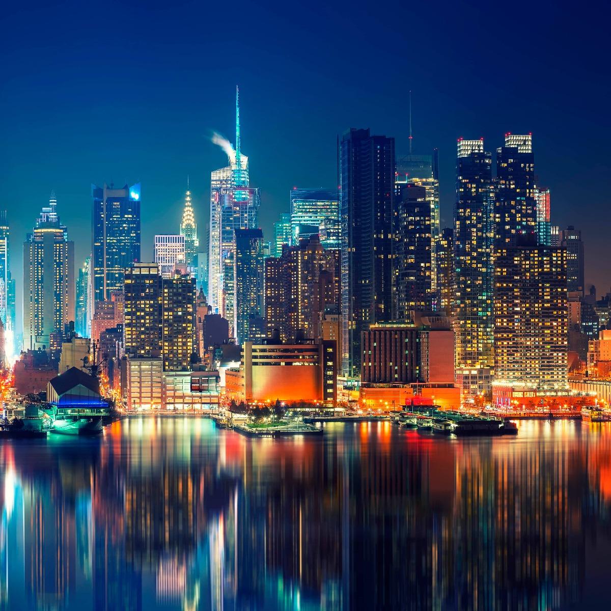 World & Cities Photo wallpaper New York skyline at night 14