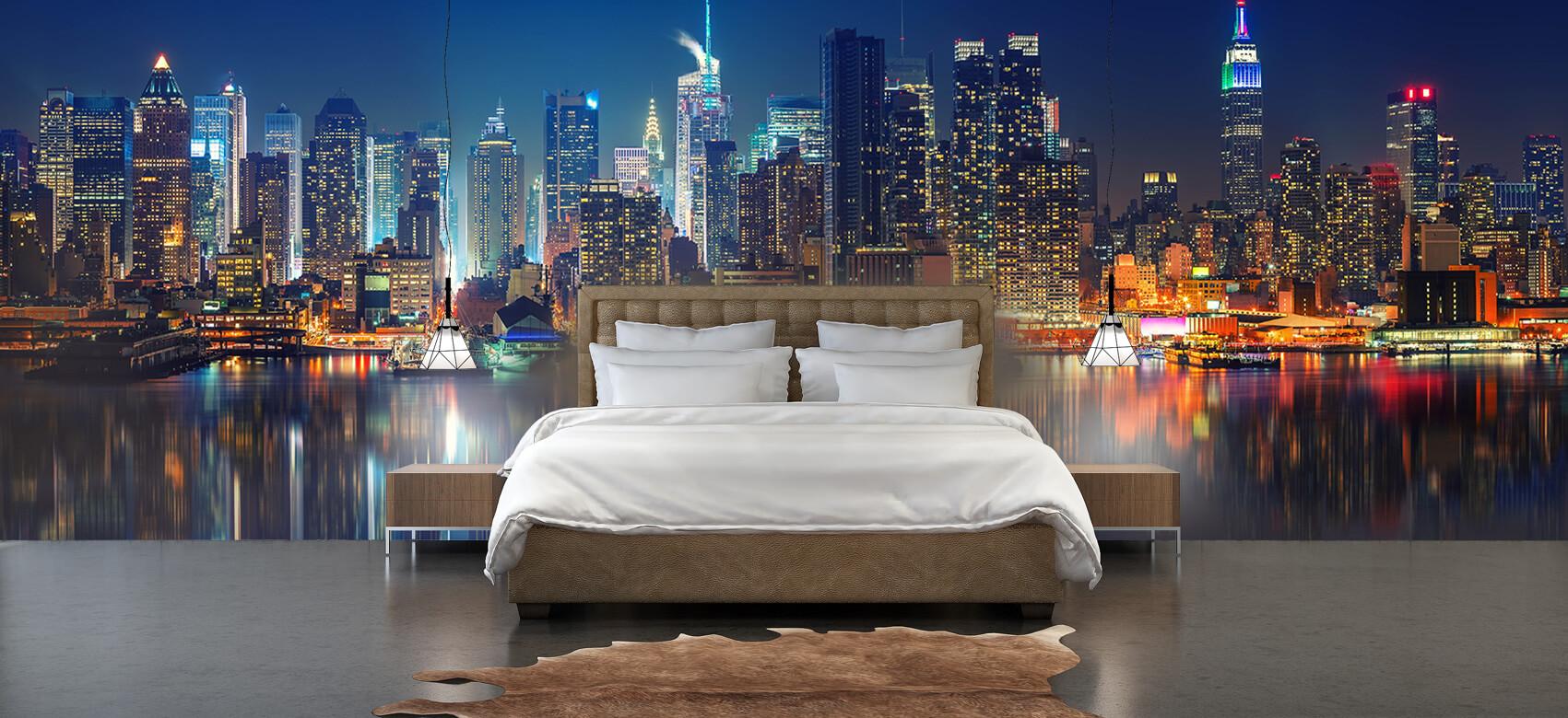 World & Cities Photo wallpaper New York skyline at night 3