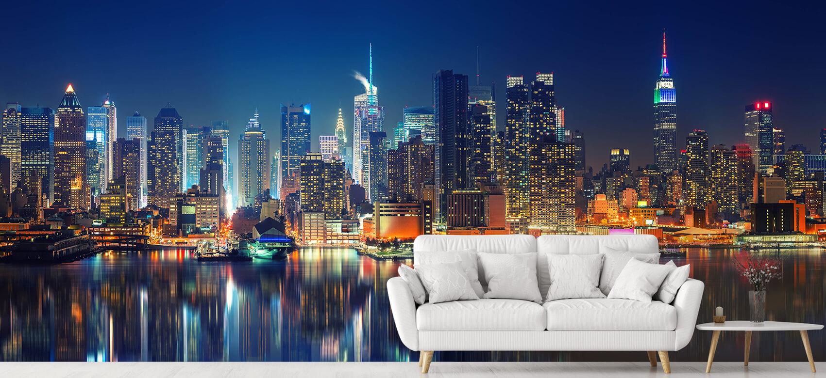 World & Cities Photo wallpaper New York skyline at night 5
