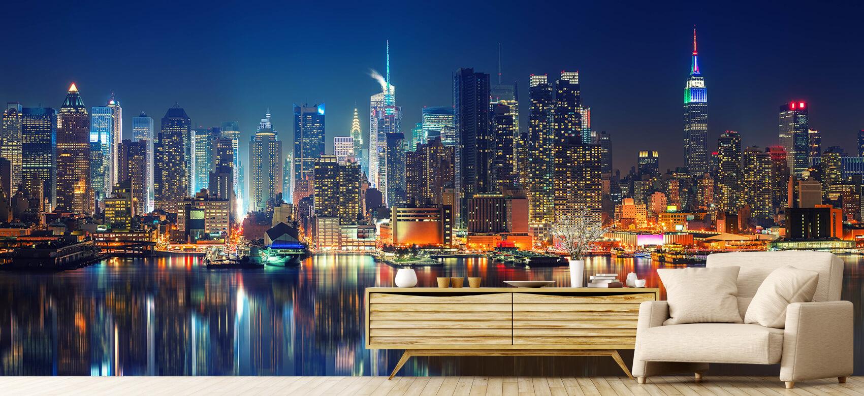 World & Cities Photo wallpaper New York skyline at night 6