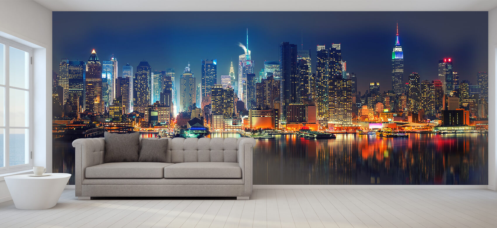 World & Cities Photo wallpaper New York skyline at night 8