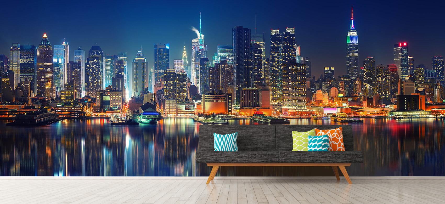 World & Cities Photo wallpaper New York skyline at night 12