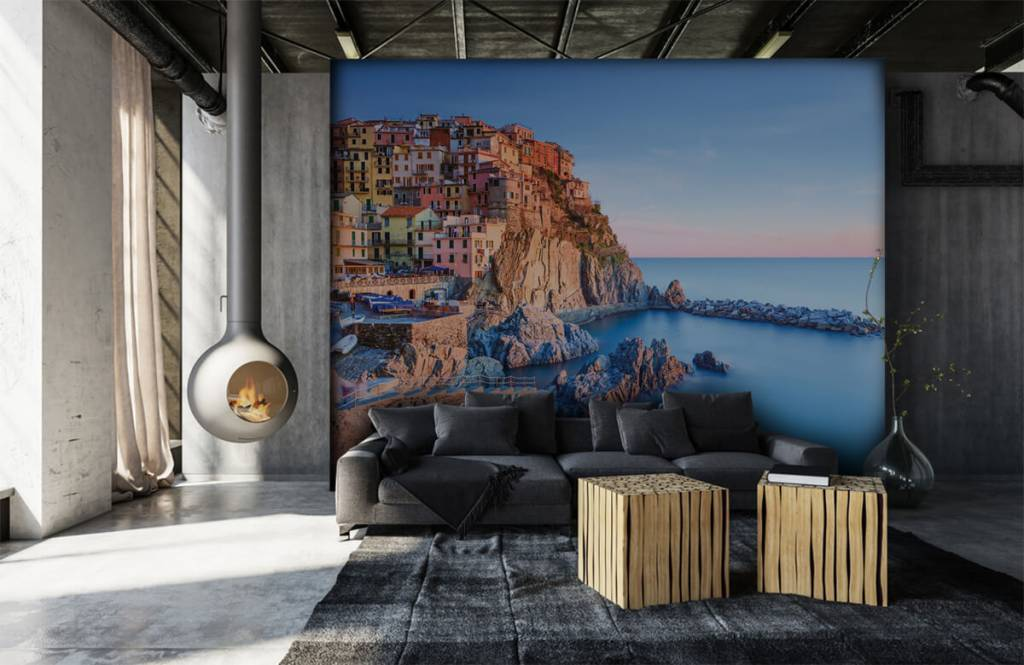 Cities wallpaper - Village on a rock in Italy - Bedroom 6