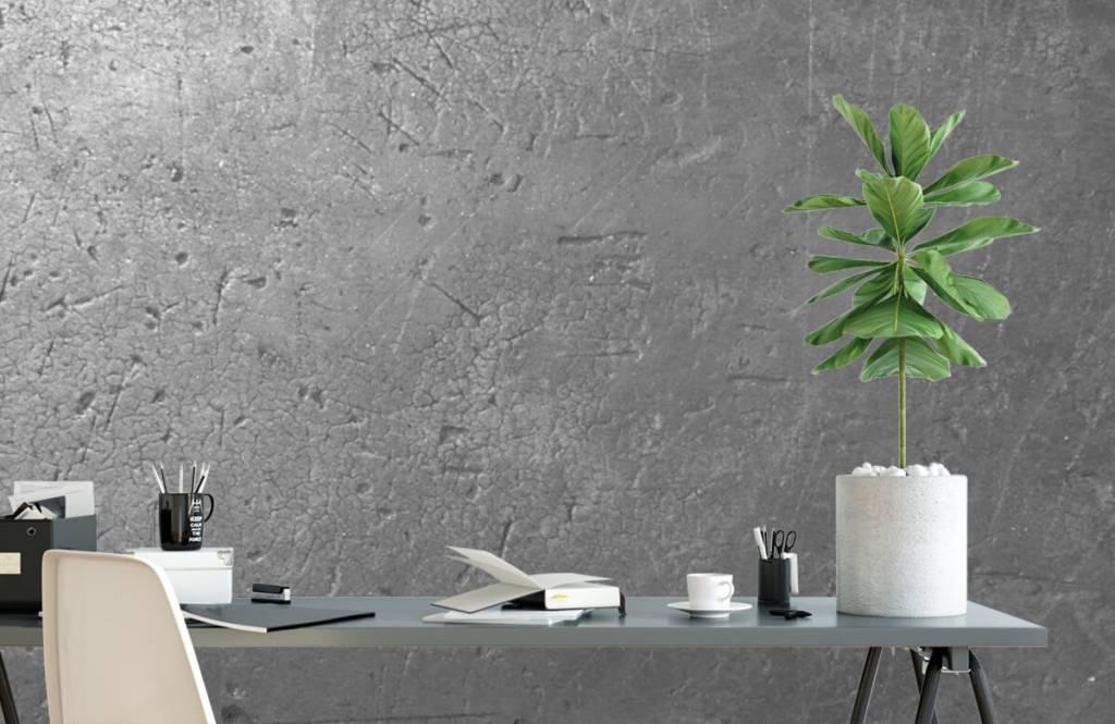 Concrete look wallpaper - Grey concrete wall - Teenage room 1