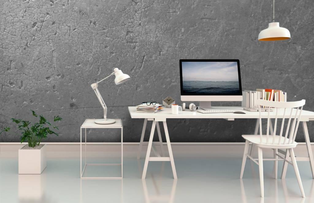 Concrete look wallpaper - Grey concrete wall - Teenage room 2