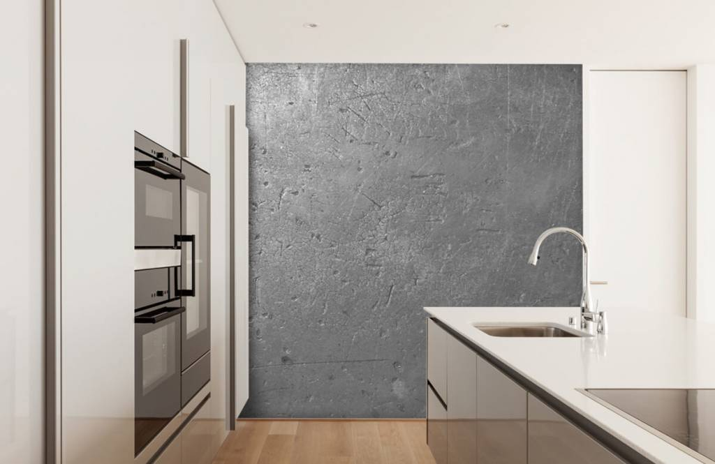 Concrete look wallpaper - Grey concrete wall - Teenage room 4