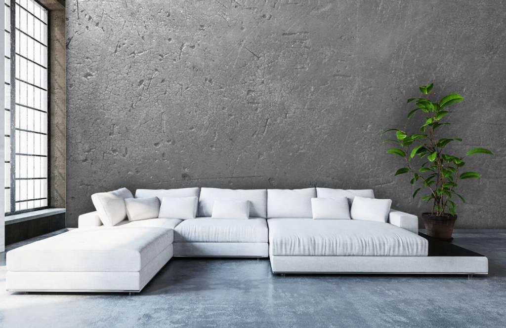 Concrete look wallpaper - Grey concrete wall - Teenage room 5