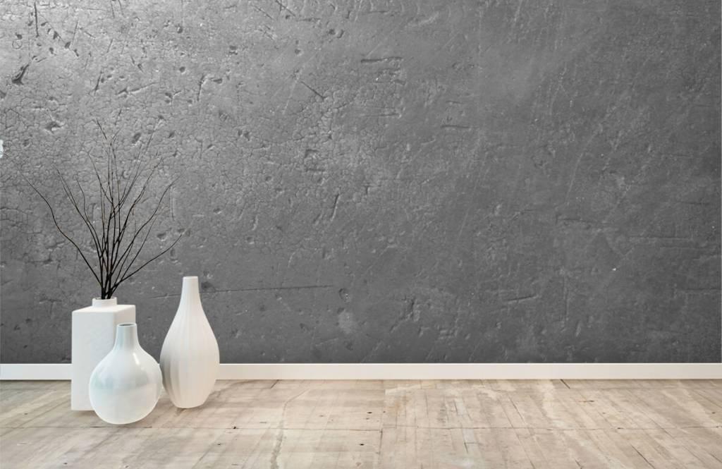 Concrete look wallpaper - Grey concrete wall - Teenage room 7