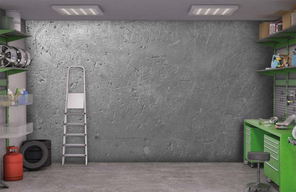 Concrete look wallpaper - Grey concrete wall - Teenage room 9