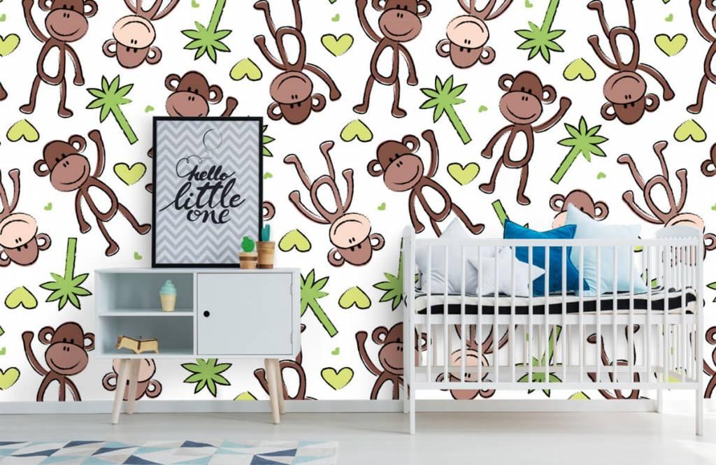Aquatic Animals - Monkeys and palm trees - Children's room 1