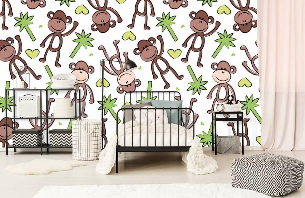 Aquatic Animals - Monkeys and palm trees - Children's room 2