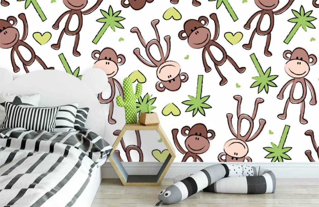 Aquatic Animals - Monkeys and palm trees - Children's room 3