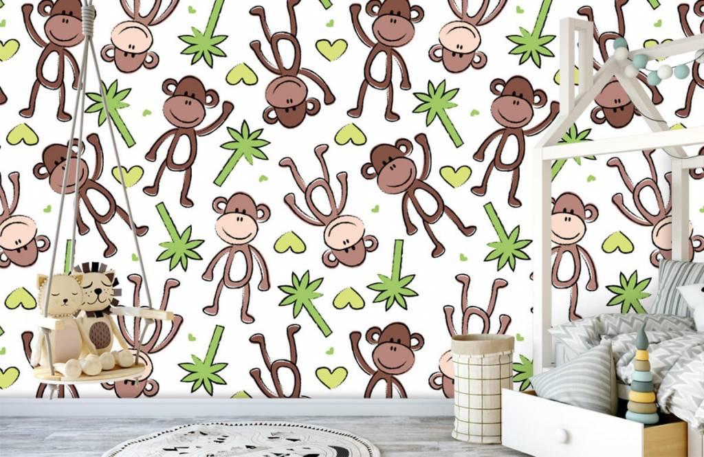Aquatic Animals - Monkeys and palm trees - Children's room 4