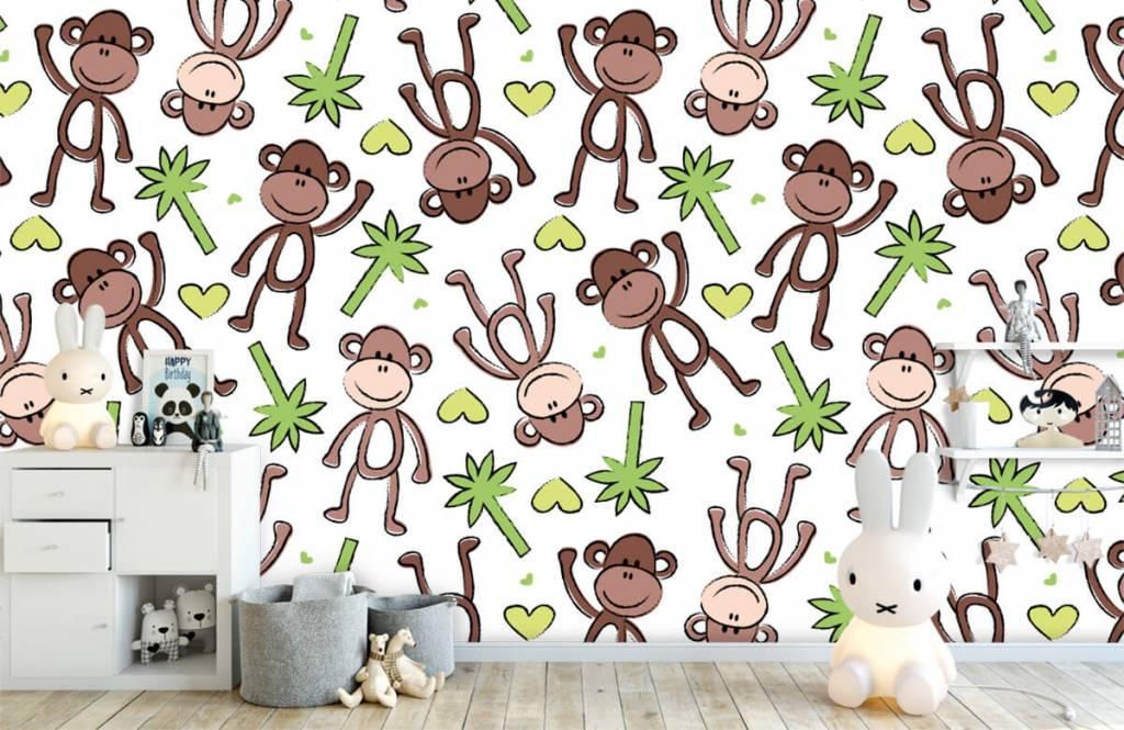 Aquatic Animals - Monkeys and palm trees - Children's room 5
