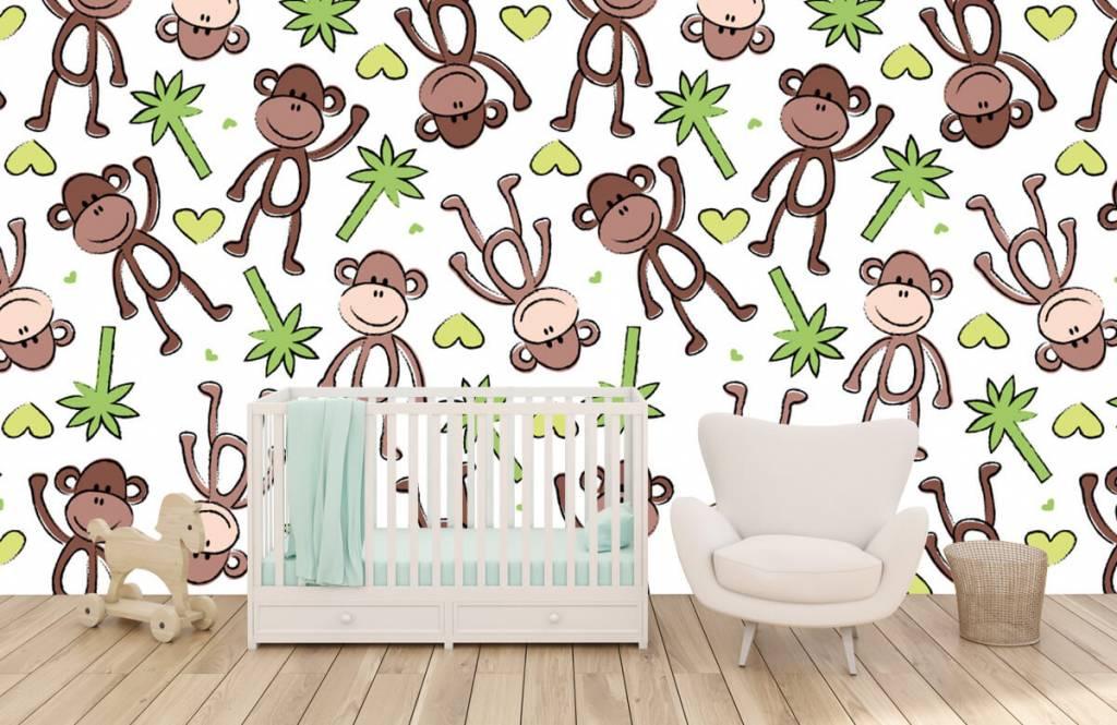 Aquatic Animals - Monkeys and palm trees - Children's room 6