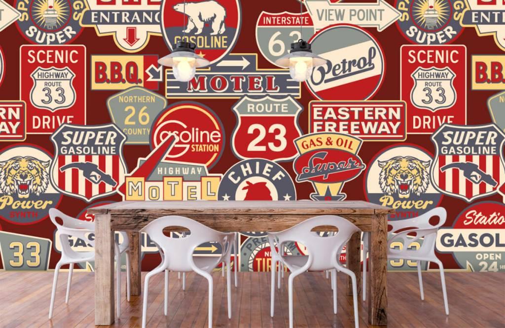 Text wallpaper - American billboards - Children's room 1