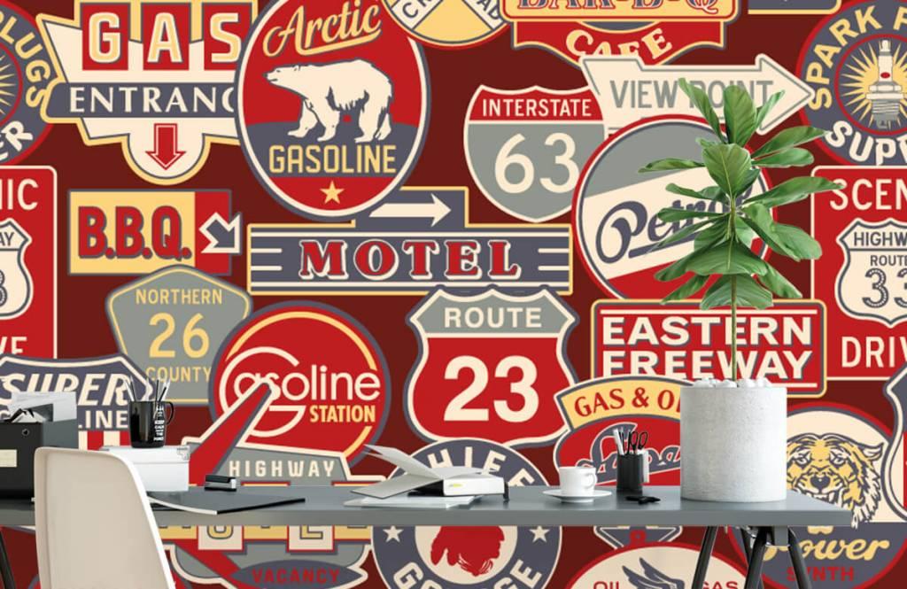 Text wallpaper - American billboards - Children's room 2