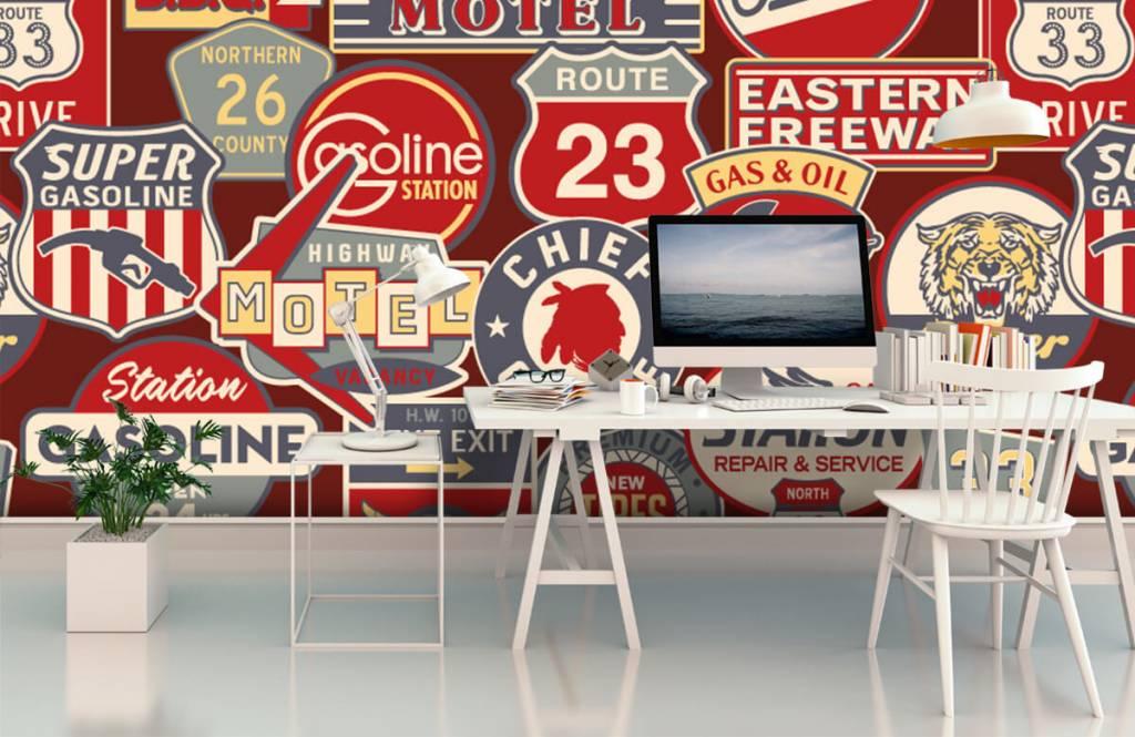 Text wallpaper - American billboards - Children's room 3