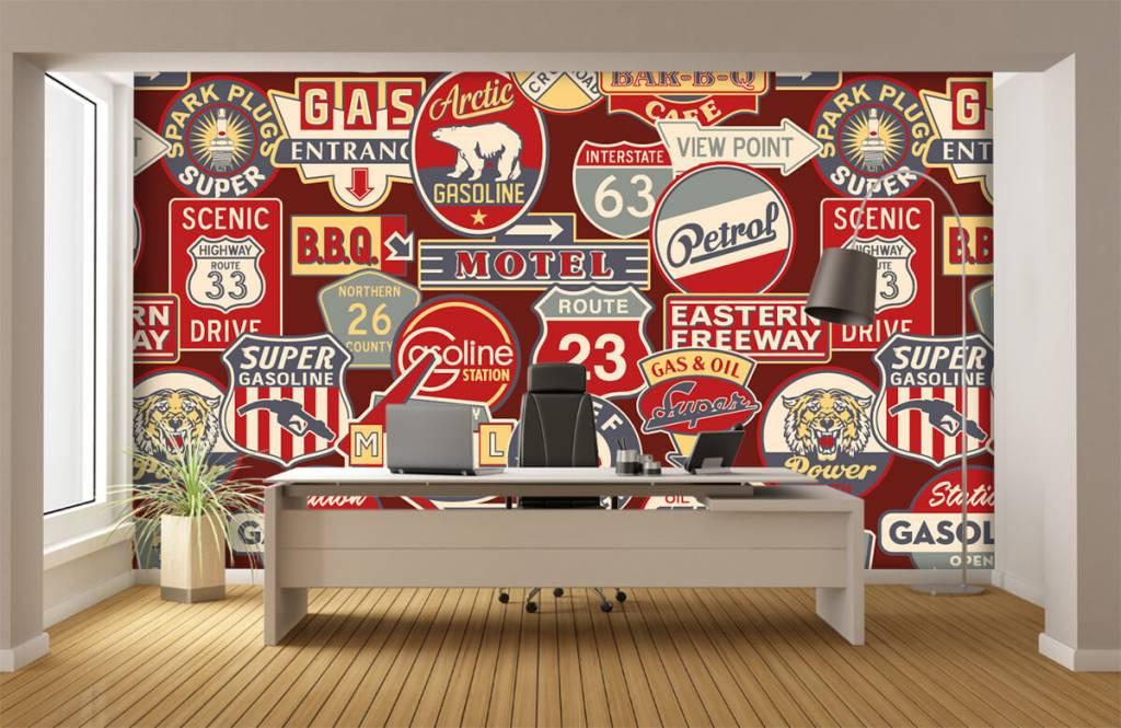 Text wallpaper - American billboards - Children's room 4