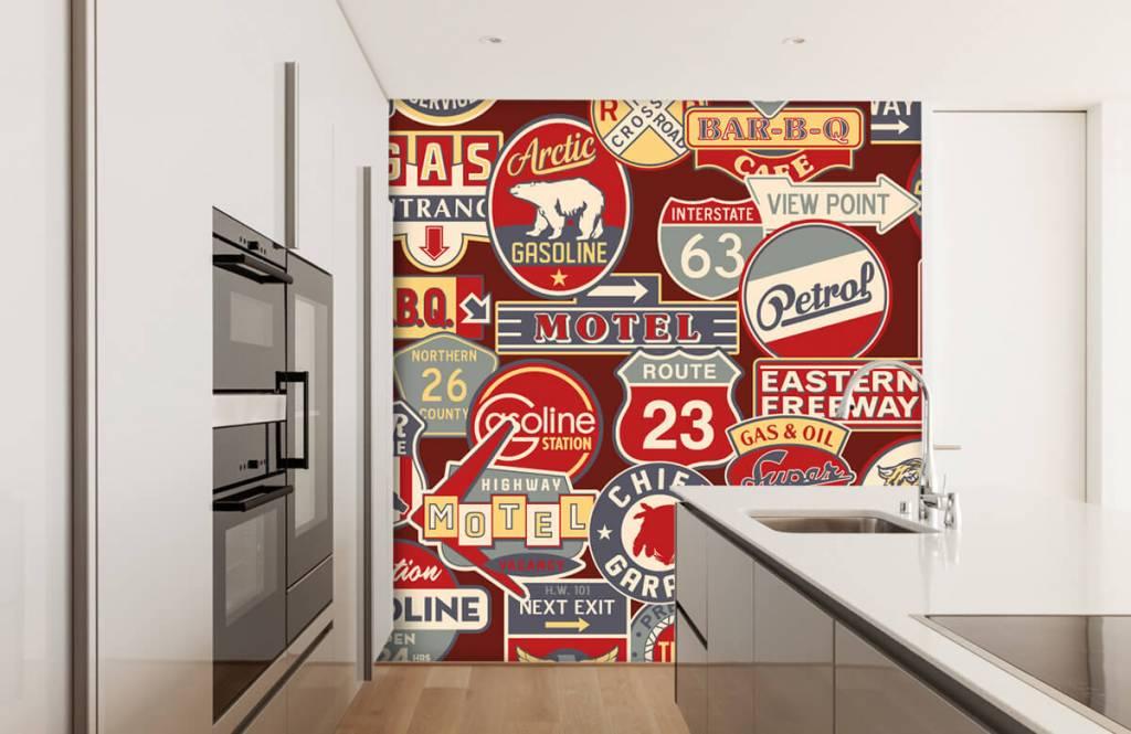 Text wallpaper - American billboards - Children's room 5