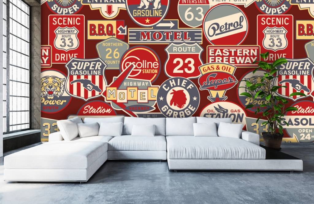 Text wallpaper - American billboards - Children's room 6