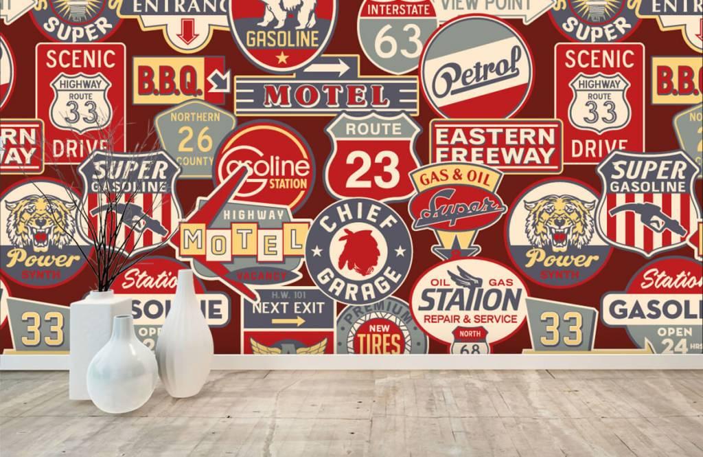 Text wallpaper - American billboards - Children's room 7