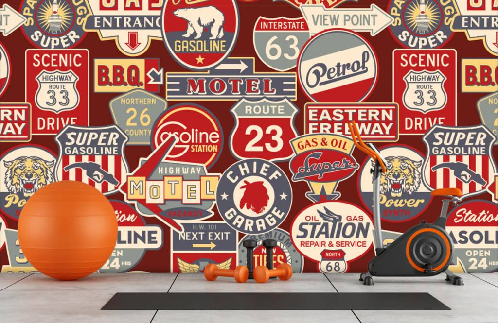 Text wallpaper - American billboards - Children's room 8