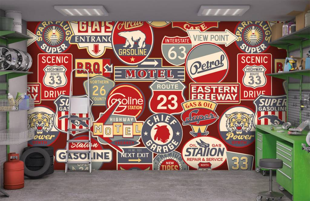 Text wallpaper - American billboards - Children's room 9