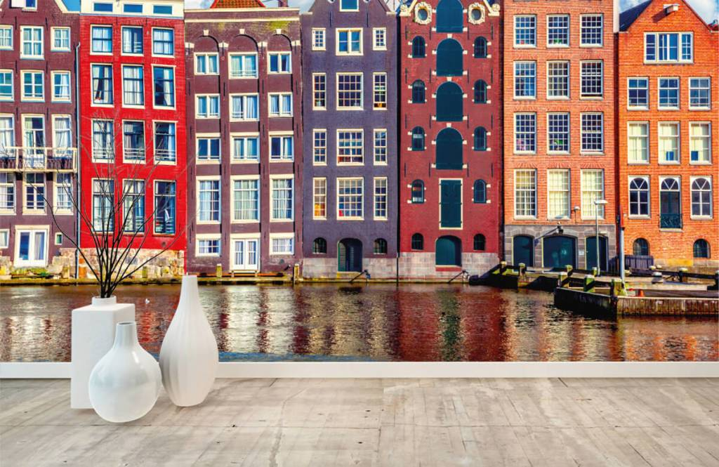 Cities wallpaper - Amsterdam houses - Bedroom 1