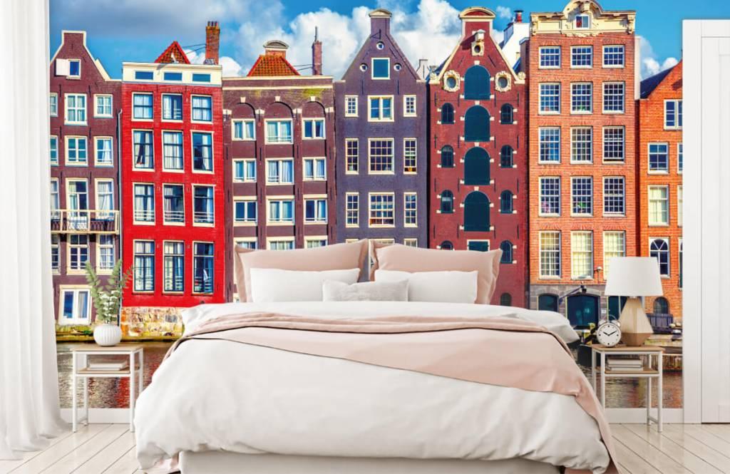 Cities wallpaper - Amsterdam houses - Bedroom 2